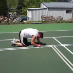 Taping The Pickleball Lines