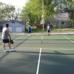 Playing at the Allenton Pickleball Courts