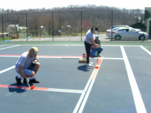 North Lebanon Pickleball Club paints courts